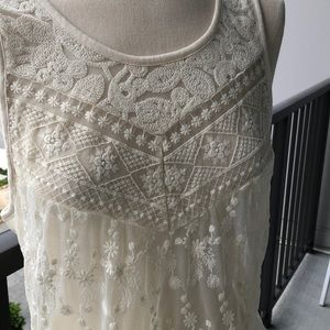 NBW Cream lace top from Express